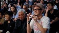 In this Saturday, June 1, 2019, photo, Hong Kong singer Anthony Wong shares his view on the military crackdown on Tiananmen…