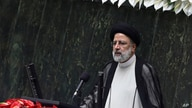 President Ebrahim Raisi delivers a speech after taking his oath as president in a ceremony at the parliament in Tehran, Iran,…
