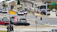 Emergency vehicles are seen outside the Pentagon Metro area Tuesday, Aug. 3, 2021, at the Pentagon in Washington. The Pentagon…