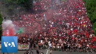 Thousands of Soccer Fans March to Hungary's Euro 2020 Clash Against France