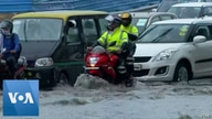 Heavy Downpour in Indian Capital Cripples Traffic