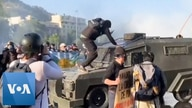 Chileans Face Down Tear Gas and Water Cannon in Anti-Government Protest