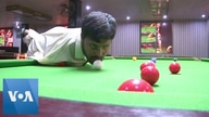Armless Pakistani Snooker Player Masters Game with Only His Mouth