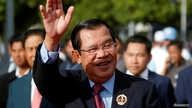 FILE - President of the ruling Cambodian People's Party and Prime Minister Hun Sen attends a ceremony to mark the 68th anniversary of the establishment of the party in Phnom Penh, Cambodia, June 28, 2019.