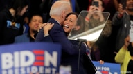 FILE PHOTO: Democratic U.S. presidential candidate and former Vice President Joe Biden is greeted by  U.S. Senator Kamala Harris during a campaign stop in Detroit, Michigan