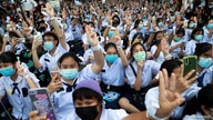 FILE PHOTO: Anti-government protesters and students attend a demonstration in Bangkok