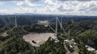 The Arecibo Observatory space telescope is seen in Arecibo