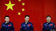 Chinese astronauts meet members of the media at Jiuquan Satellite Launch Center
