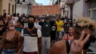 FILE PHOTO: People shout slogans against the government during a protest in Havana