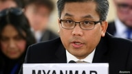FILE PHOTO: FILE PHOTO: Myanmar's ambassador Tun addresses the Human Rights Council at the United Nations in Geneva