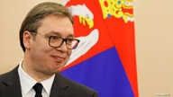 FILE PHOTO: Serbian President Aleksandar Vucic attends a news conference in Sochi, Russia, Dec. 4, 2019. REUTERS/Shamil…