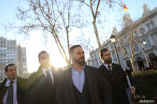 Spain's far-right Vox party leader Santiago Abascal is pictured in Madrid, Feb. 12, 2019.
