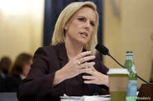 "Department of Homeland Security Secretary Kirstjen Nielsen testifies before a House Homeland Security Committee hearing on ""The Way Forward on Border Security"" on Capitol Hill in Washington, U.S., March 6, 2019."