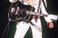 FILE - A 1973 photo shows Elvis Presley in concert.