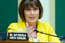 FILE - In this April 1, 2014 file photo, Rep. Kathy Castor, D-Fla., talks during a House Energy and Commerce subcommittee on Oversight and Investigation on Capitol Hill in Washington.