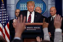 President Donald Trump speaks to reporters about border security in the briefing room of the White House, Jan. 3, 2019, in Washington.