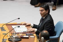 Israel's U.N. Ambassador Danny Danon speaks during a Security Council meet, June 1, 2018 at United Nations.
