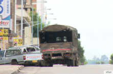 Streets of Harare's central business district were largely deserted as Zimbabwe took heed of the three-day strike dubbed - #ZimbabweShutDown – over a 150 percent fuel hike and general increase of cost of living. (C Mavhunga/VOA)