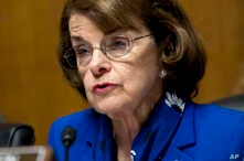 FILE - Sen. Dianne Feinstein, D-Calif asks questions during a hearing of the Senate Judiciary Committee on Capitol Hill in Washington, May 16, 2016. Feinstein says she no longer supports the death penalty, a significant policy shift as she seeks re-e...