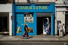 An exterior view shows Charlie's Store open as usual, in which CCTV from inside appeared to show Dawn Sturgess the day before she became seriously ill, in Salisbury, England, July 6, 2018. British police have confirmed that Sturgess, 44, and Charlie ...
