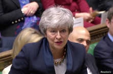 Britain's Prime Minister Theresa May speaks in the Parliament in London, April 3, 2019, in this screen grab taken from video.