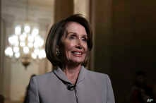 House Democratic Leader Nancy Pelosi of California, who will become speaker of the House on Thursday, walks to her new office at the Capitol during a television interview for the NBC Today Show, in Washington, Jan. 2, 2019.