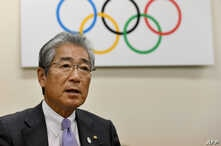 FILE - Japanese Olympic Committee President Tsunekazu Takeda speaks during an interview at his office in Tokyo, Jan. 19, 2018.