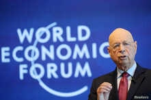 Klaus Schwab, founder and executive chairman of the World Economic Forum addresses a news conference ahead of the Davos annual meeting in Cologny near Geneva, Switzerland, Jan. 15, 2019.