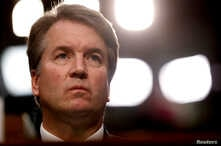 FILE - U.S. Supreme Court nominee Brett Kavanaugh listens during his Senate Judiciary Committee confirmation hearing on Capitol Hill in Washington, U.S., Sept. 4, 2018.