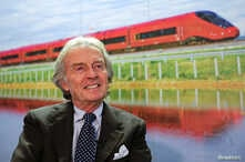 NTV Italian rail operator Chairman Luca Cordero di Montezemolo smiles during an interview with Reuters at the NTV headquarters in Rome, Jan. 17, 2018.