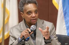 Chicago mayoral candidate Lori Lightfoot participates in a candidate forum sponsored by One Chicago For All Alliance at Daley College in Chicago, March 24, 2019.