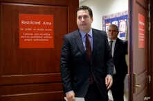 House Intelligence Committee Chairman Rep. Devin Nunes, R-Calif. arrives to give reporters an update about the ongoing Russia investigation, Wednesday, March 22, 2017, on Capitol Hill in Washington.