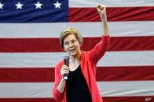 FILE - In this Jan. 12, 2019, file photo, Sen. Elizabeth Warren, D-Mass., speaks during an organizing event at Manchester Community College in Manchester, N.H. Warren is expected to formally launch her presidential bid on Saturday with a populist cal