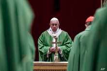 Pope Francis celebrates Mass at the Vatican, Feb. 24, 2019.