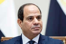 Egyptian President Abdel Fattah el-Sisi attends a signing ceremony following his talks with Russian President Vladimir Putin in Sochi, Russia, Oct. 17, 2018.