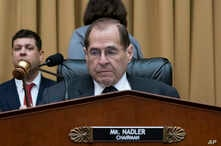 House Judiciary Committee Chair Jerrold Nadler, D-N.Y., gavels in a hearing on the Mueller report without witness Attorney General William Barr who refused to appear, on Capitol Hill in Washington, May 2, 2019.