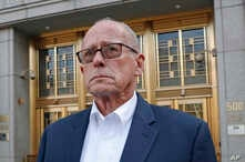 Former Rochester Drug Co-Operative CEO Laurence Doud III leaves US. District Court in Manhattan, April 23, 2019, in New York.