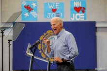 Democratic 2020 U.S. presidential candidate and former Vice President Joe Biden speaks at a campaign stop in Manchester, New Hampshire, May 13, 2019.