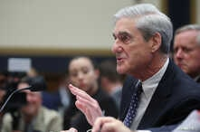 Former Special Counsel Robert Mueller testifies before a House Judiciary Committee hearing.