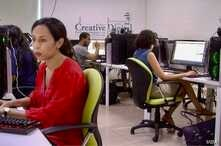 Students are seen at a WeCode class, aimed to build digital skills needed in Tunisia's marketplace. (L. Bryant/VOA)