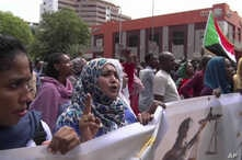 In this frame grab from video, Sudanese women rally on the streets of the capital, in Khartoum, Sudan, Sept. 12, 2019.