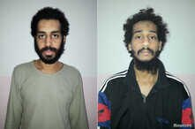 A combination picture shows Alexanda Kotey and Shafee Elsheikh, who the Syrian Democratic Forces (SDF) claim are British…