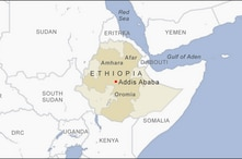 Map of Oromia, Amhara, and Afar Ethiopia