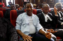 Nigerian activist and former presidential candidate Omoyele Sowore appears at the federal high court in Abuja, Nigeria,…