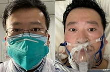 Undated photos show Chinese Dr. Li Wenliang, who was punished for issuing an early warning about the coronavirus, whose death was confirmed Friday, Feb. 7, at the Wuhan Central Hospital, China.