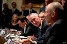 Gilead Sciences, Inc. CEO Daniel O'Day attends a meeting with President Donald Trump, members of the Coronavirus Task Force,…