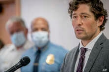 Minneapolis Mayor Jacob Frey speaks during a news conference, May 28, 2020 in Minneapolis, Minn.