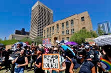 Protesters rally June 3, 2020, in Phoenix, demanding that the Phoenix City Council defund the Phoenix Police.