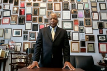 U.S. Rep. John Lewis, D-Ga., in his office on Capitol Hill, in Washington, May 10, 2007.