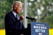 Democratic presidential candidate former Vice President Joe Biden speaks at McGregor Industries in Dunmore, Pa., Thursday, July…